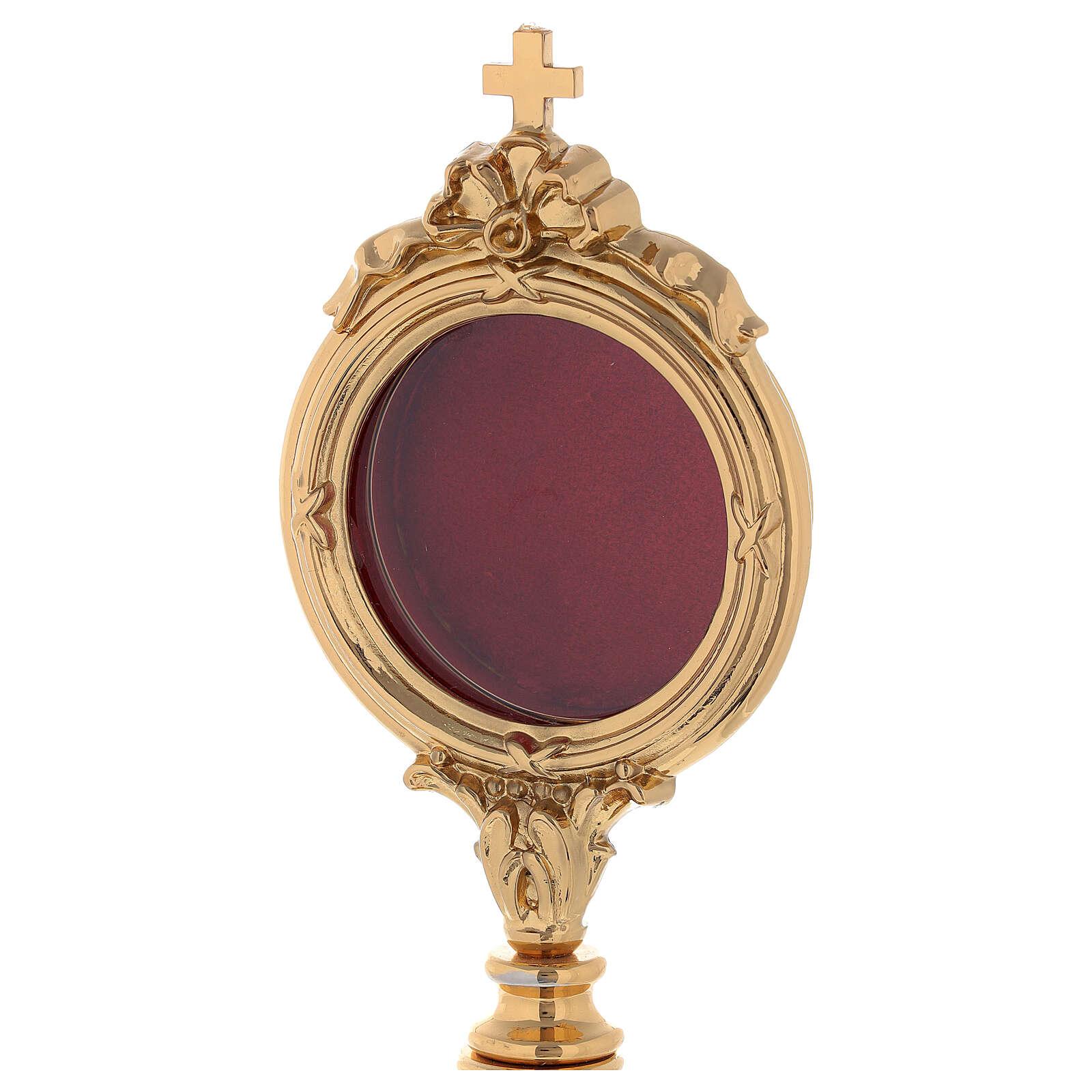 Reliquiario ottone dorato h 30 cm 4