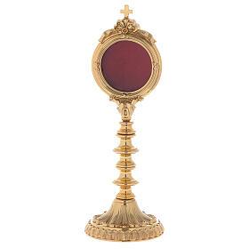 Reliquiario ottone dorato h 30 cm s1