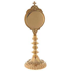 Reliquiario ottone dorato h 30 cm s6
