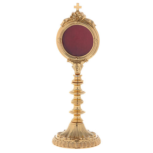 Reliquiario ottone dorato h 30 cm 1