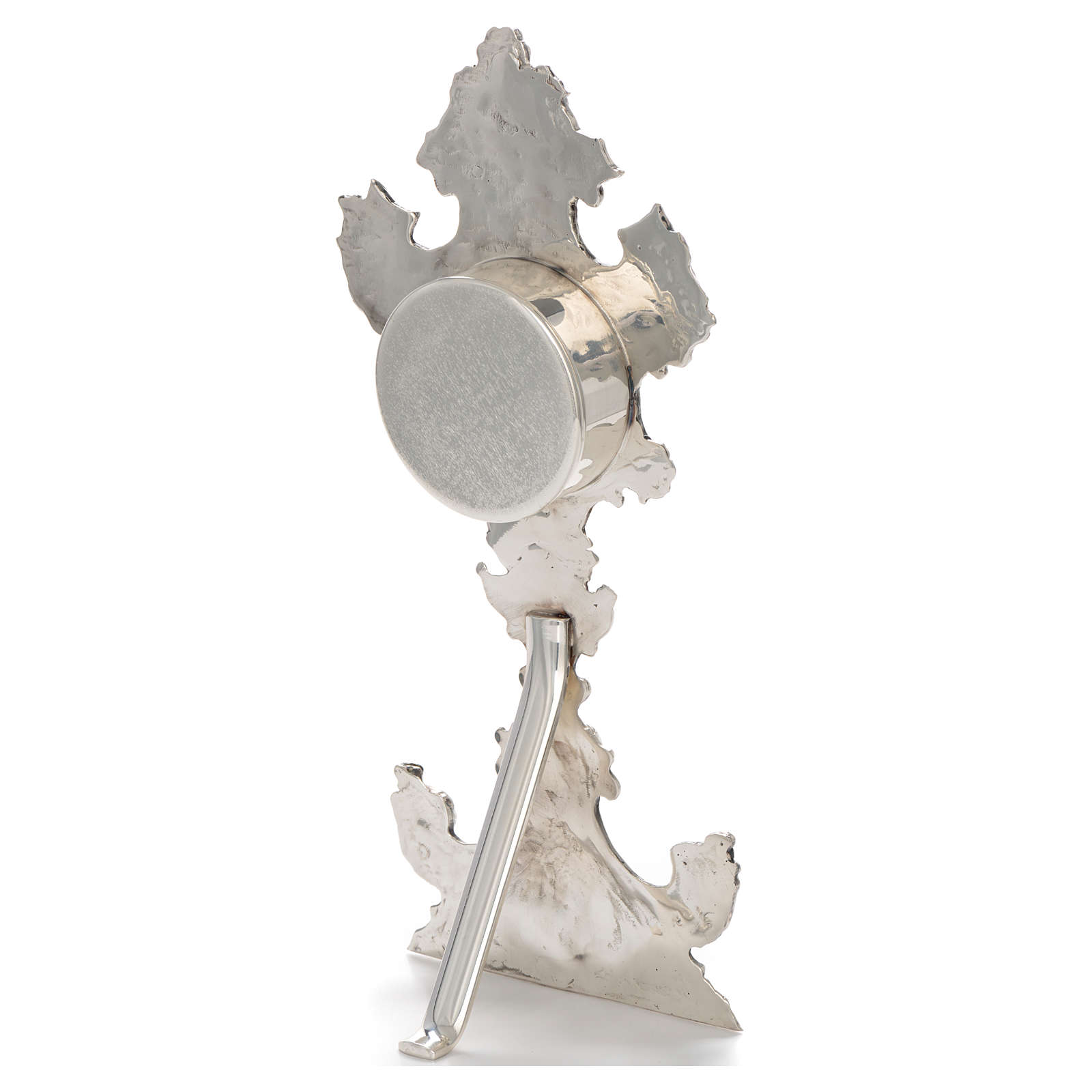 Reliquary in silver-plated brass H 30cm 4