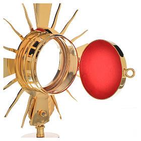 Portareliquia ottone dorato con putto h 17 cm s3