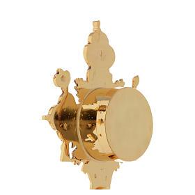 Reliquiario della Santa Croce ottone fuso oro s6