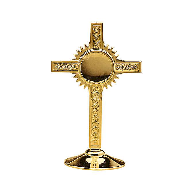 Reliquiario Molina Ulivi ottone dorato 4