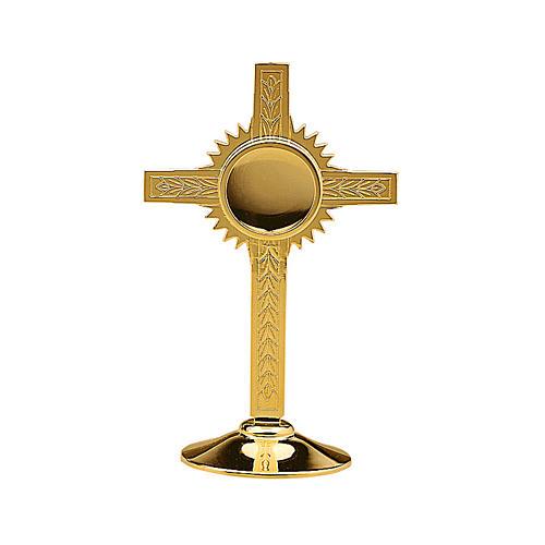 Reliquiario Molina Ulivi ottone dorato 1