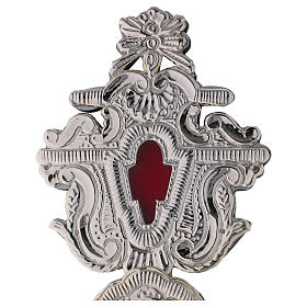 Reliquary with silver-plated metal cross h 40 cm s2