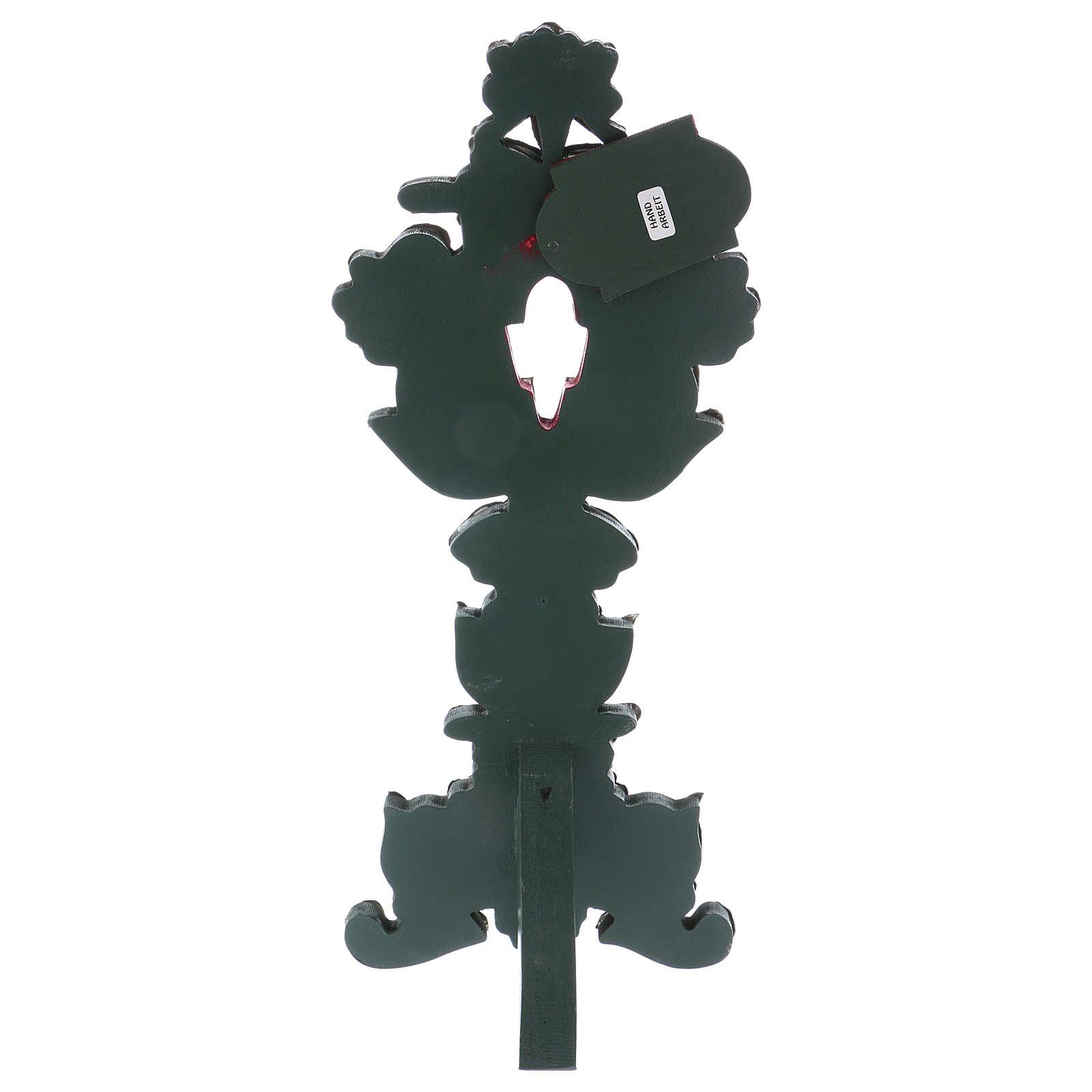 Relicario con cruz metal plateaado h 40 cm 4