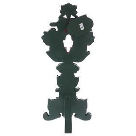Relicário com cruz metal prateado h 40 cm s3