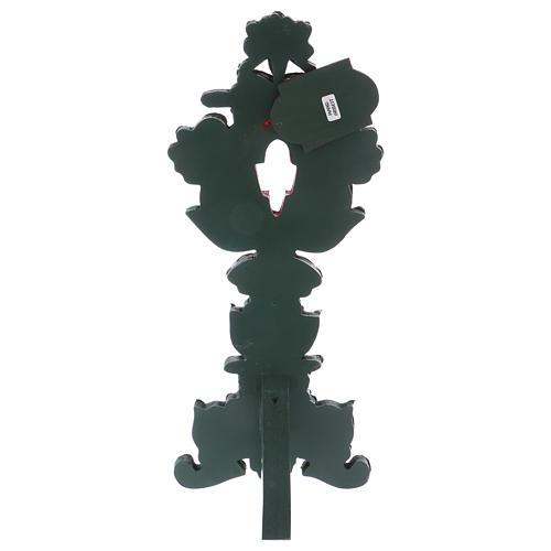 Relicário com cruz metal prateado h 40 cm 3
