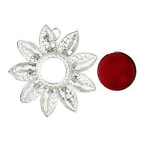 Relicario 5 cm plata 925 con piedras rojas s3