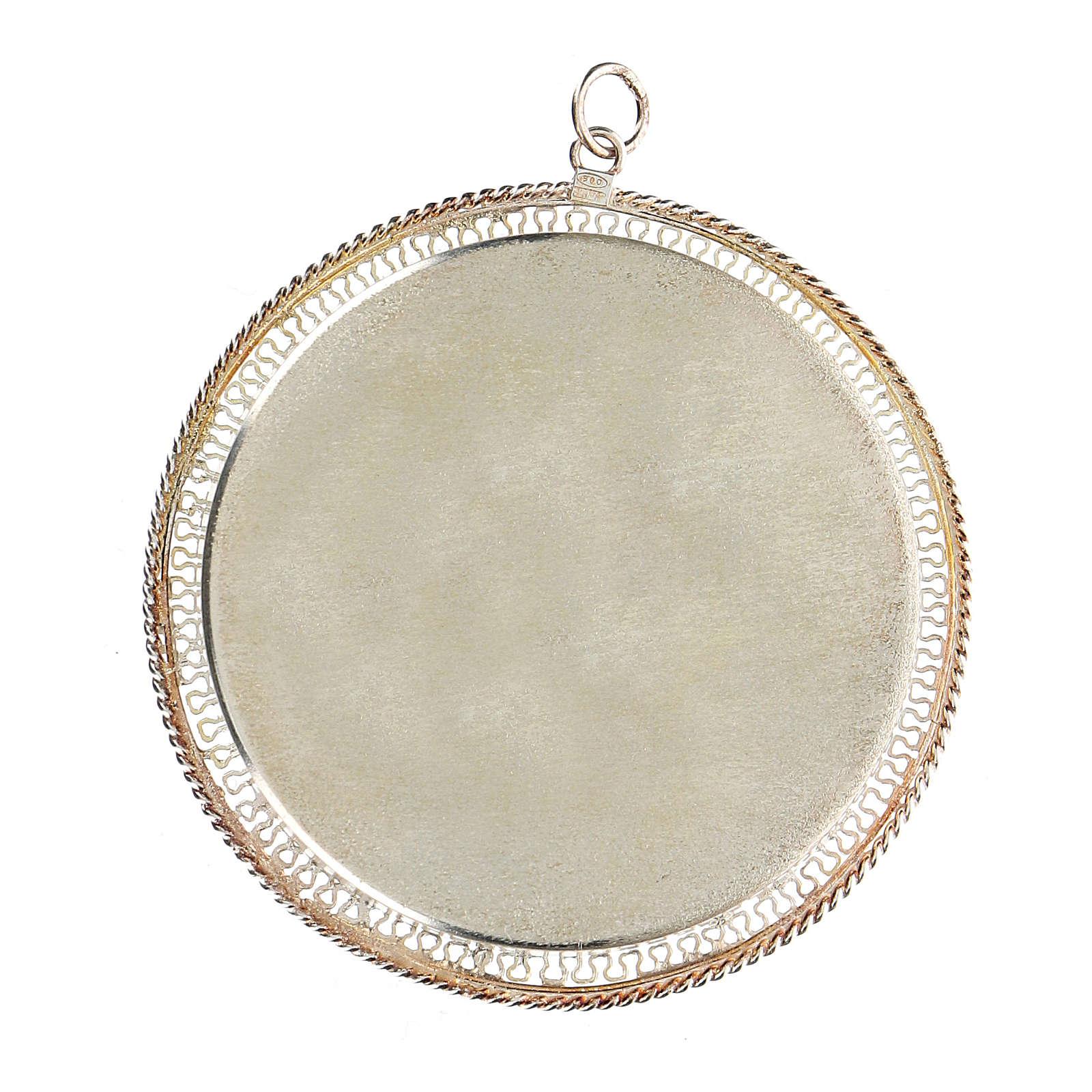Reliquario filigrana tondo 6 cm argento 800 4