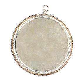 Reliquario filigrana tondo 6 cm argento 800 s2