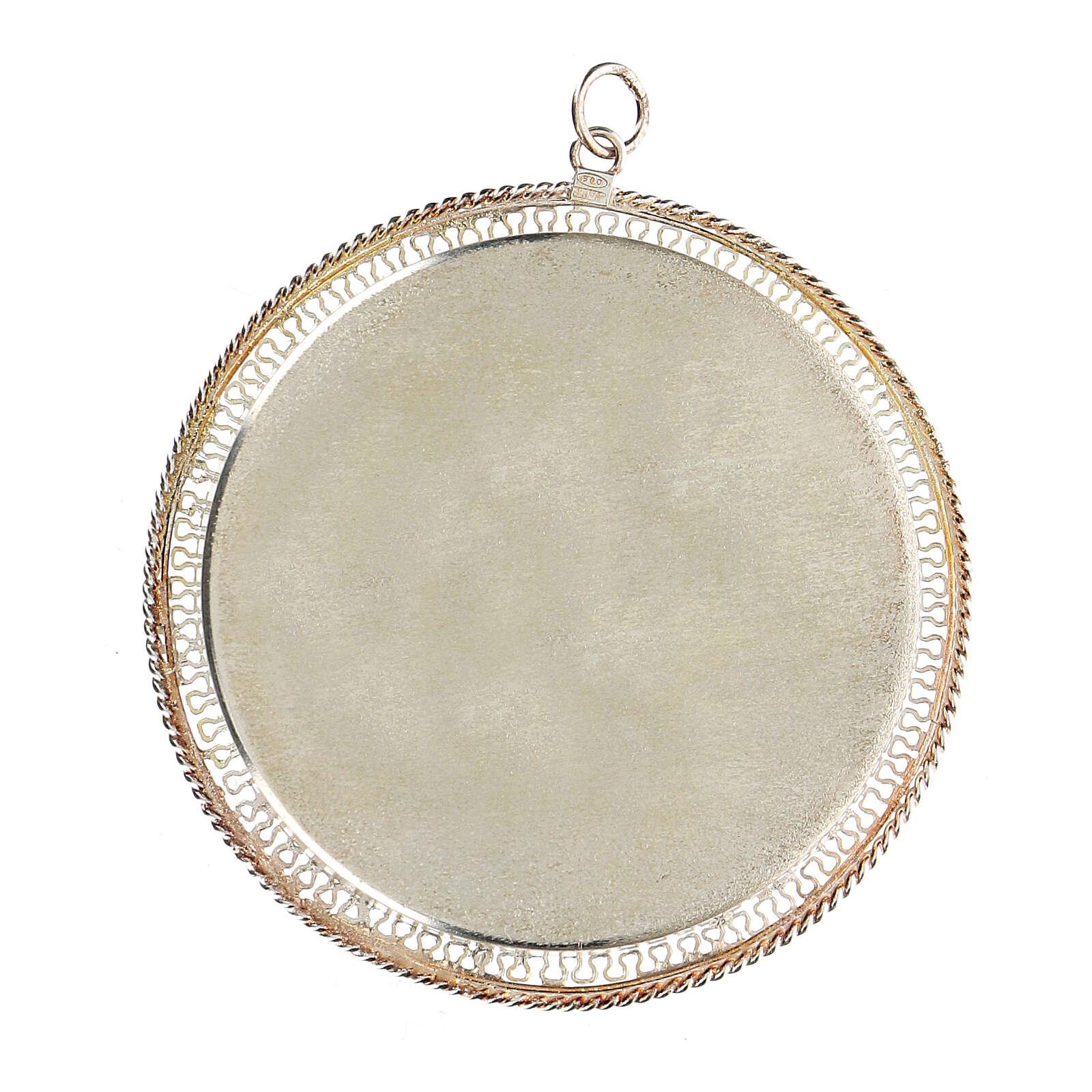 Relicário filigrana redondo 6 cm prata 925 4