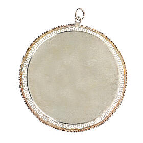 Relicário filigrana redondo 6 cm prata 925 s2