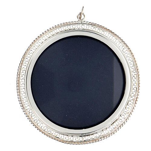 Relicário filigrana redondo 6 cm prata 925 1