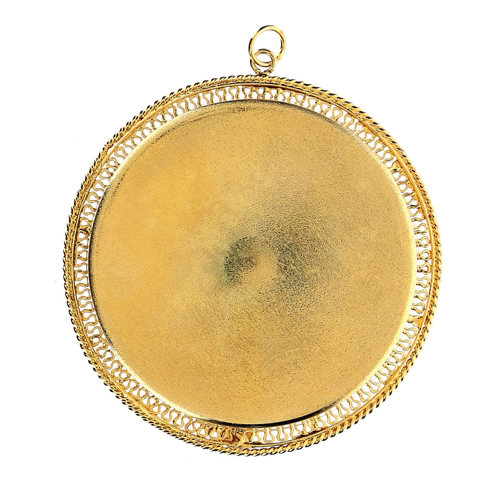 Relicario plata 925 dorada filigrana redondo 6 cm 4