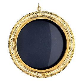 Relicário prata 925 dourada filigrana redonda 6 cm s1