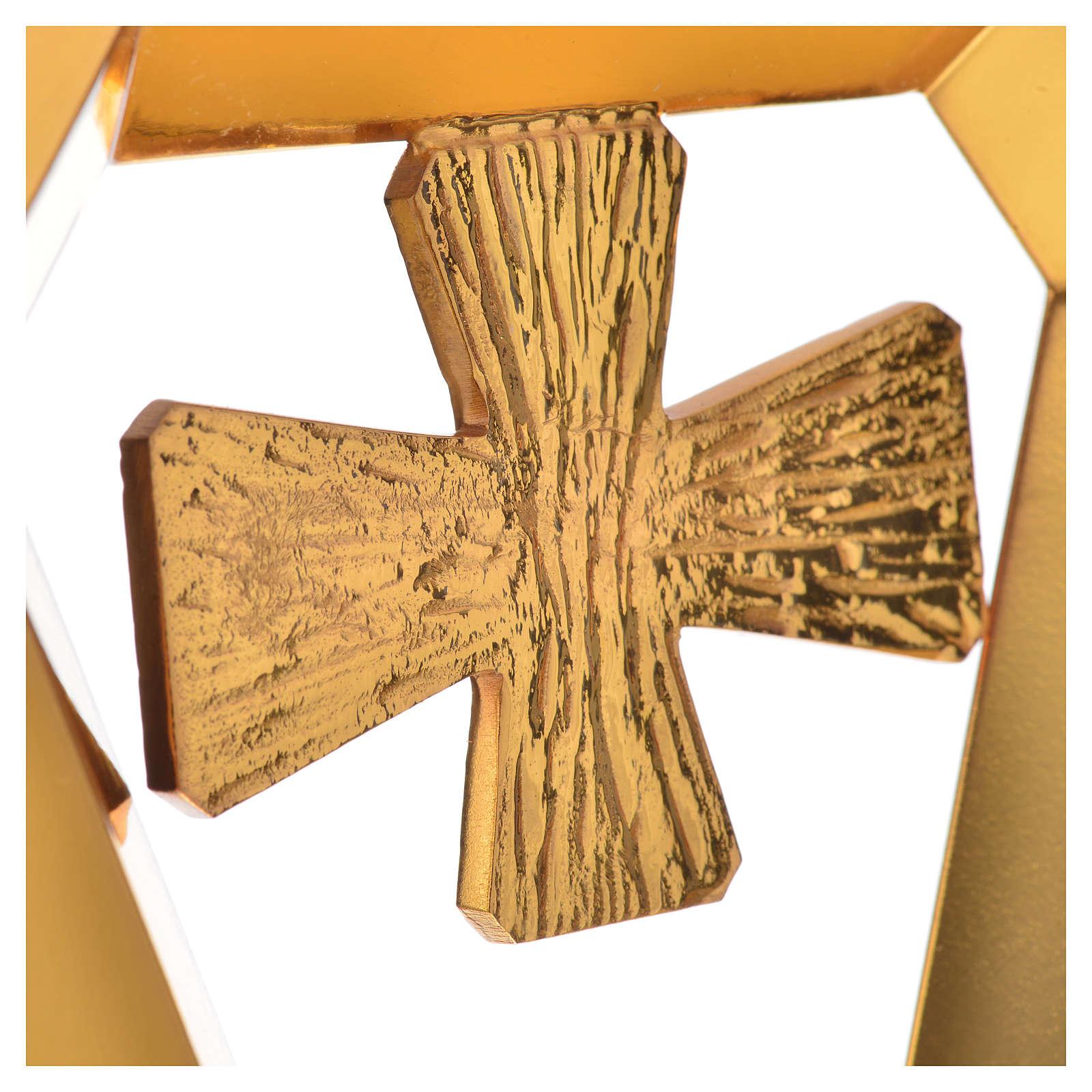 Pastorale asta ottone evangelisti croce 3