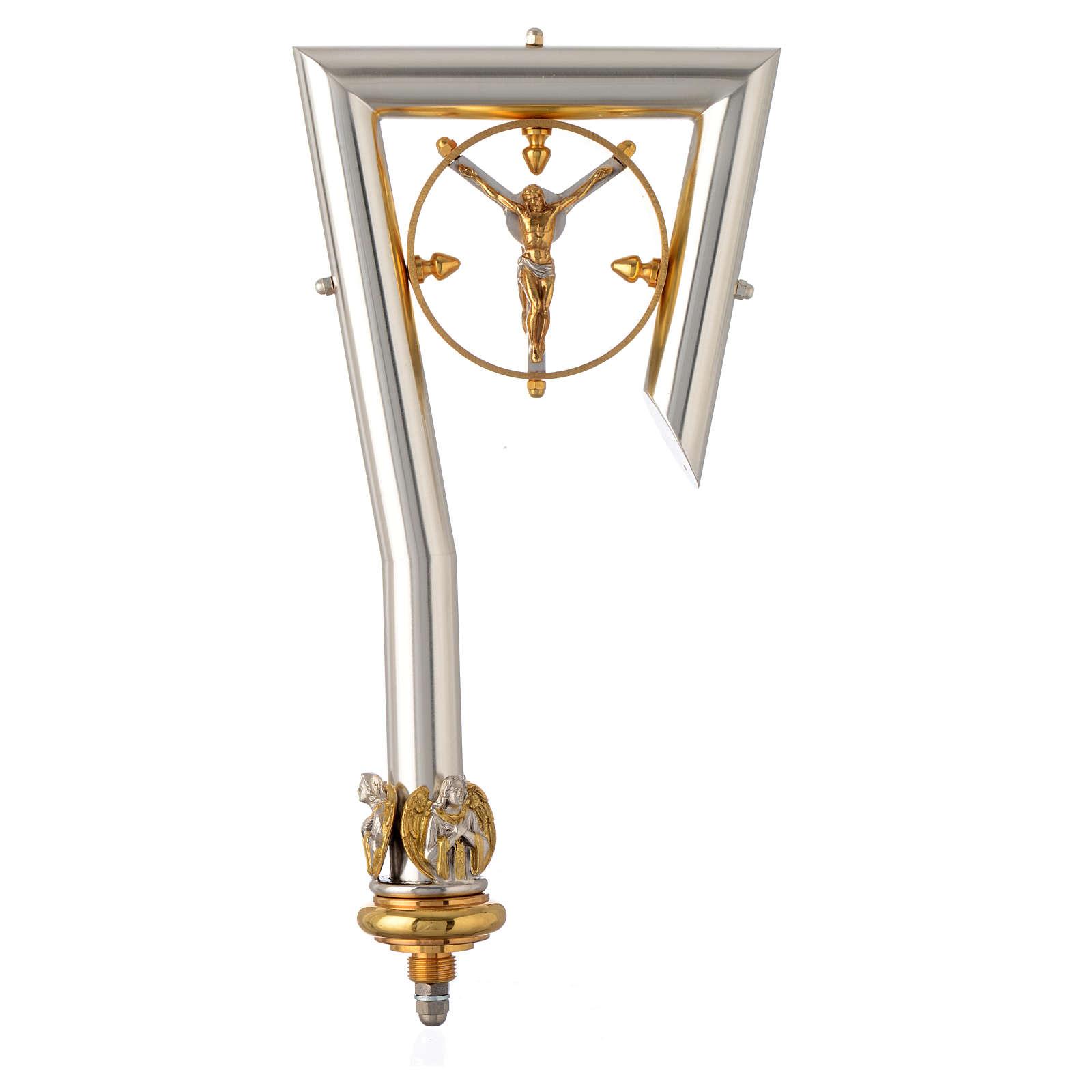 Crosse Pastorale avec Christ doré 3