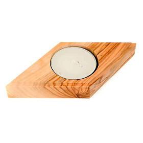 Portavelas madera olivo estrella s4