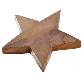 Olive wood candle-holder star s2