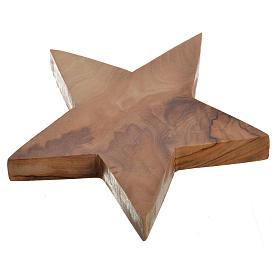 Portavelas de olivo estrella 5 puntas s2