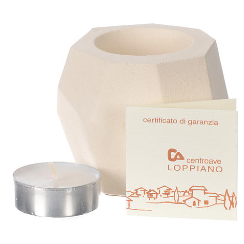 Candela Prisma argilla Centro Ave 6,5 cm 3