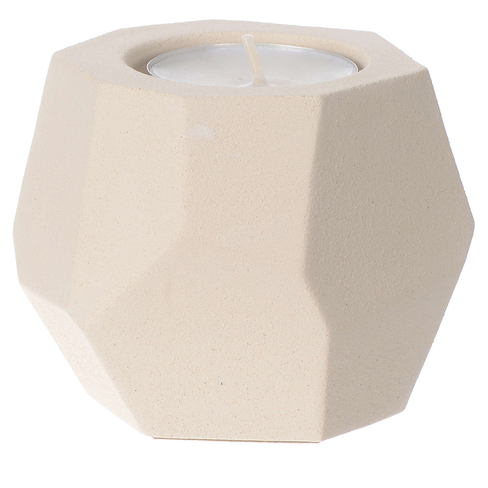 Prism shape candle in clay by Centro Ave, 6.5cm 3