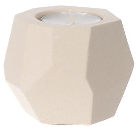 Prism shape candle in clay by Centro Ave, 6.5cm s1