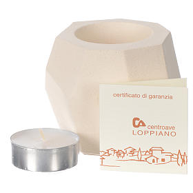 Prism shape candle in clay by Centro Ave, 6.5cm s3