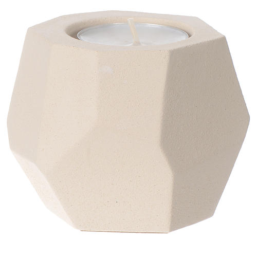 Prism shape candle in clay by Centro Ave, 6.5cm 1