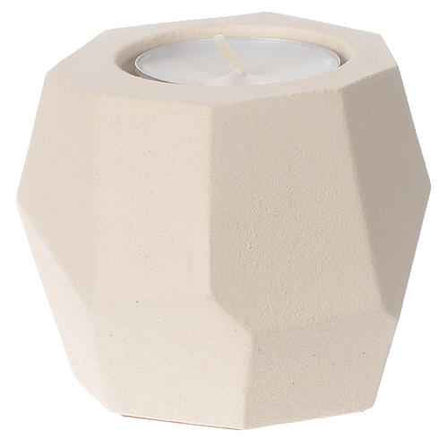 Prism shape candle in clay by Centro Ave, 6.5cm 2