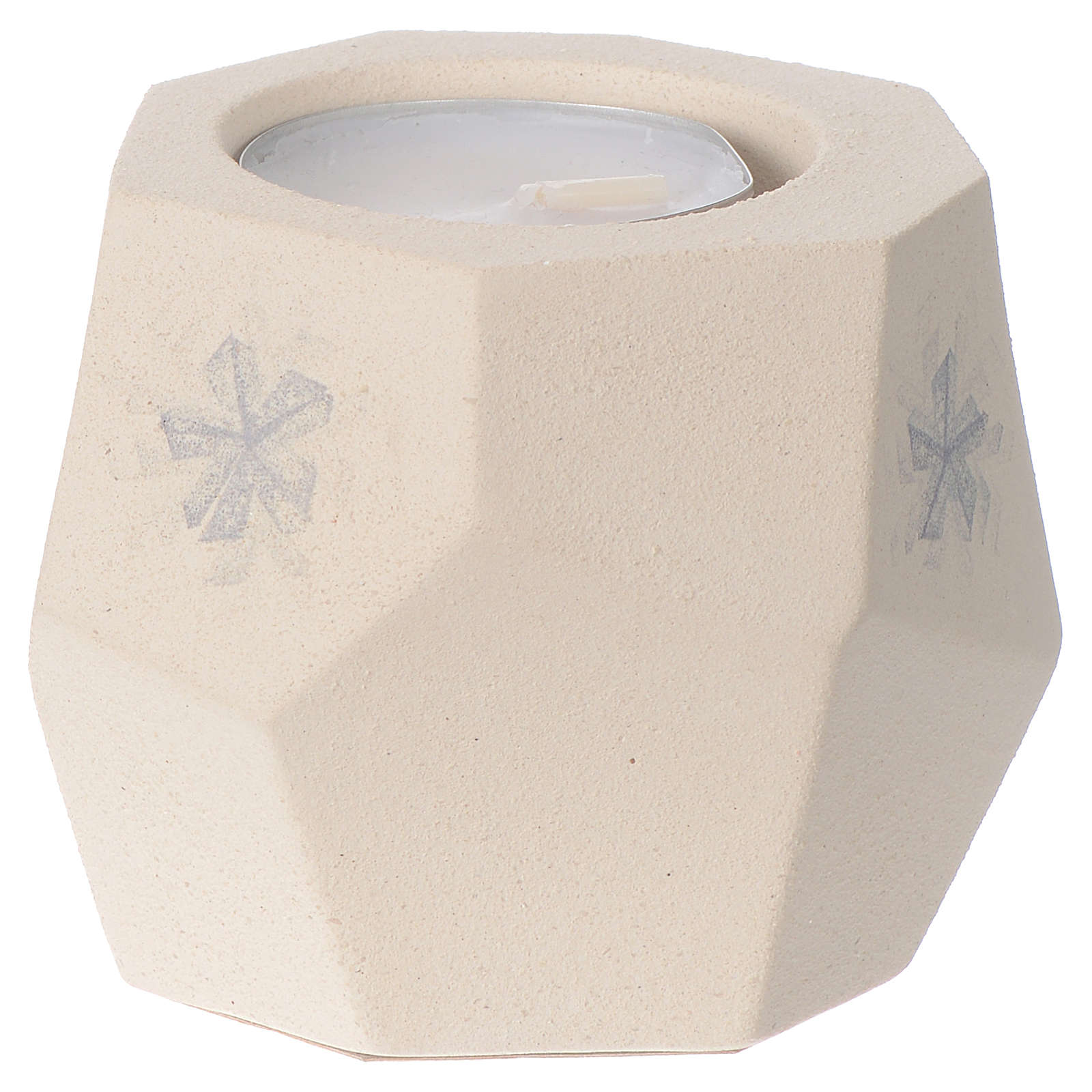 Prism shape Christmas candle in clay by Centro Ave, 6.7cm 3