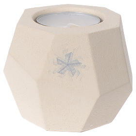 Prism shape Christmas candle in clay by Centro Ave, 6.7cm s1