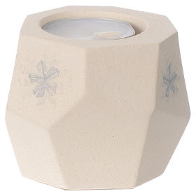 Prism shape Christmas candle in clay by Centro Ave, 6.7cm s2