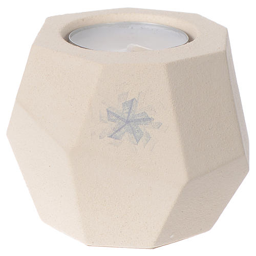 Prism shape Christmas candle in clay by Centro Ave, 6.7cm 1