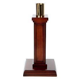 Porta cirio realizado de madera de nuez s1