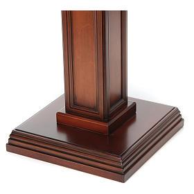Porta cirio realizado de madera de nuez s3
