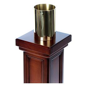 Porta cirio realizado de madera de nuez s4