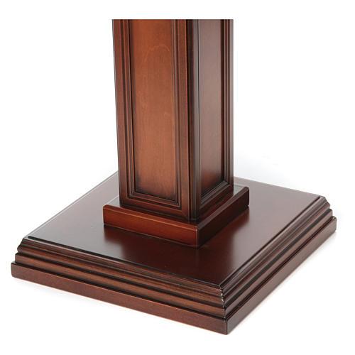 Porta cirio realizado de madera de nuez 3