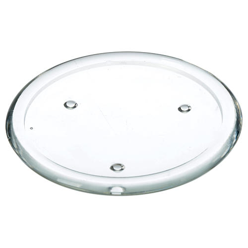 Plato de vidrio para velas 12,5 cm 1