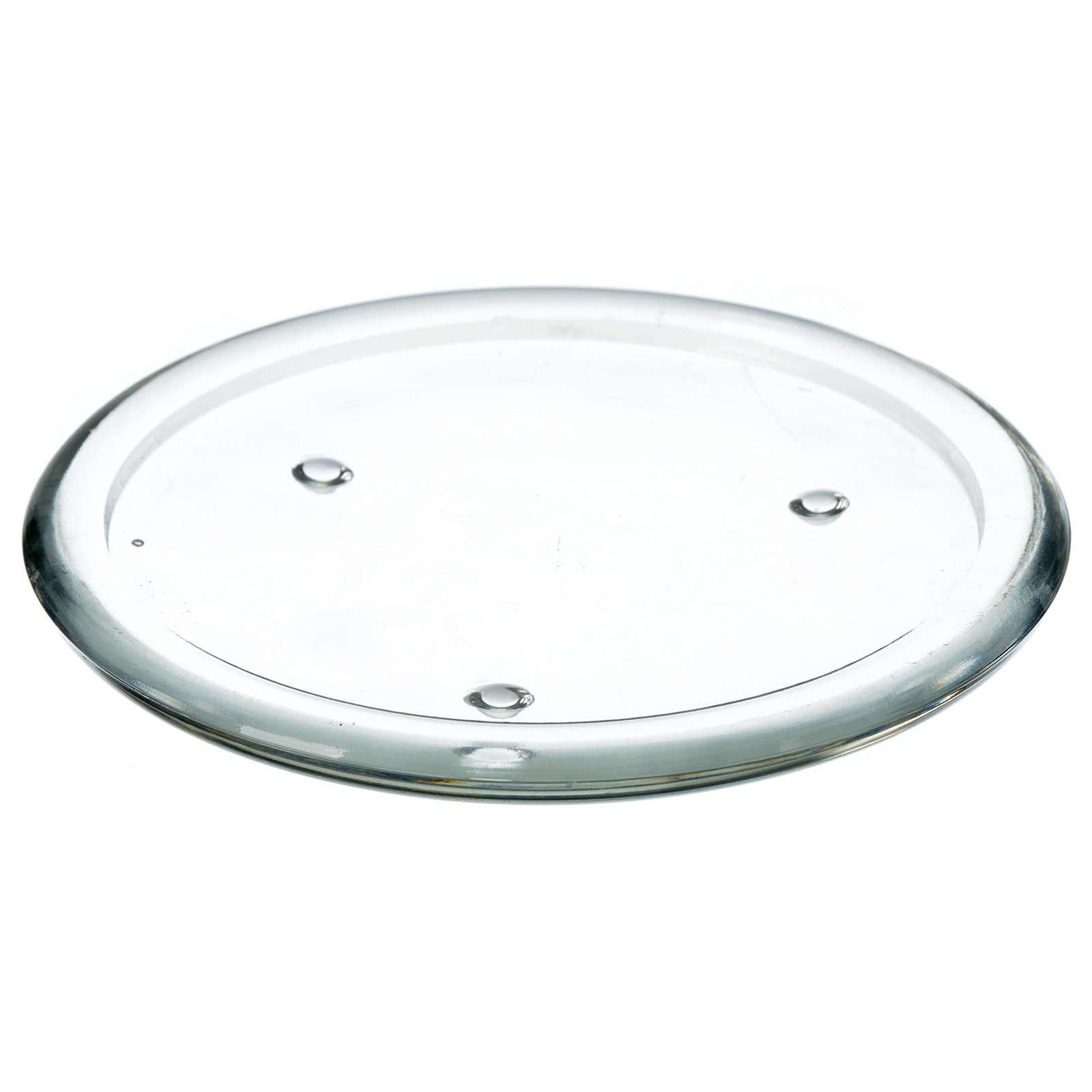 Piattino in vetro per candele 12,5 cm 3
