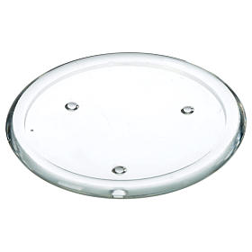 Piattino in vetro per candele 12,5 cm s1