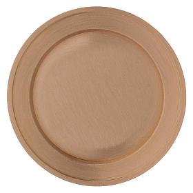 Portavela plato de latón dorado opaco diám. 11 cm s2