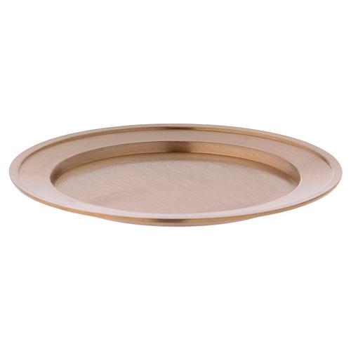 Portavela plato de latón dorado opaco diám. 11 cm 1