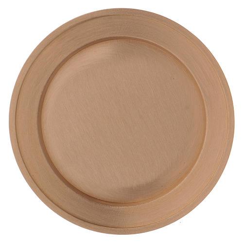 Portavela plato de latón dorado opaco diám. 11 cm 2