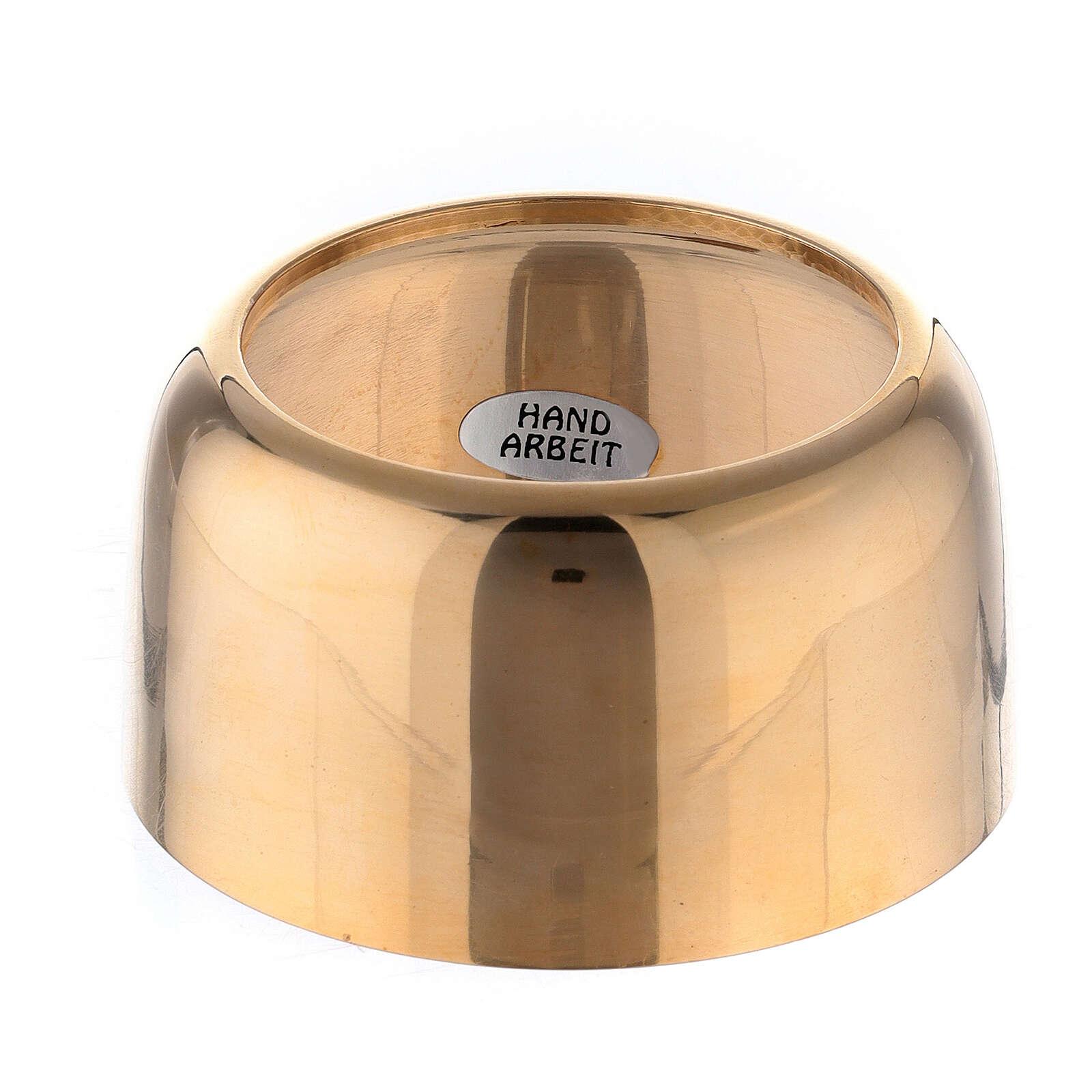 Base portacandela in ottone dorato diam. 2 cm 4