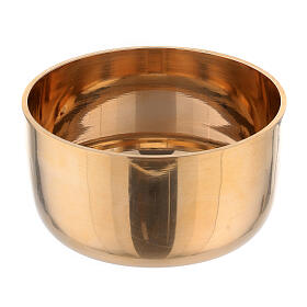 Base porta-vela em latão dourado diâm. 2 cm s2