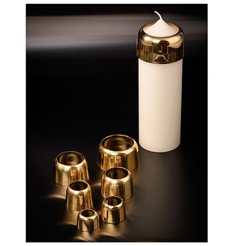 Base porta-vela em latão dourado diâm. 2 cm 3