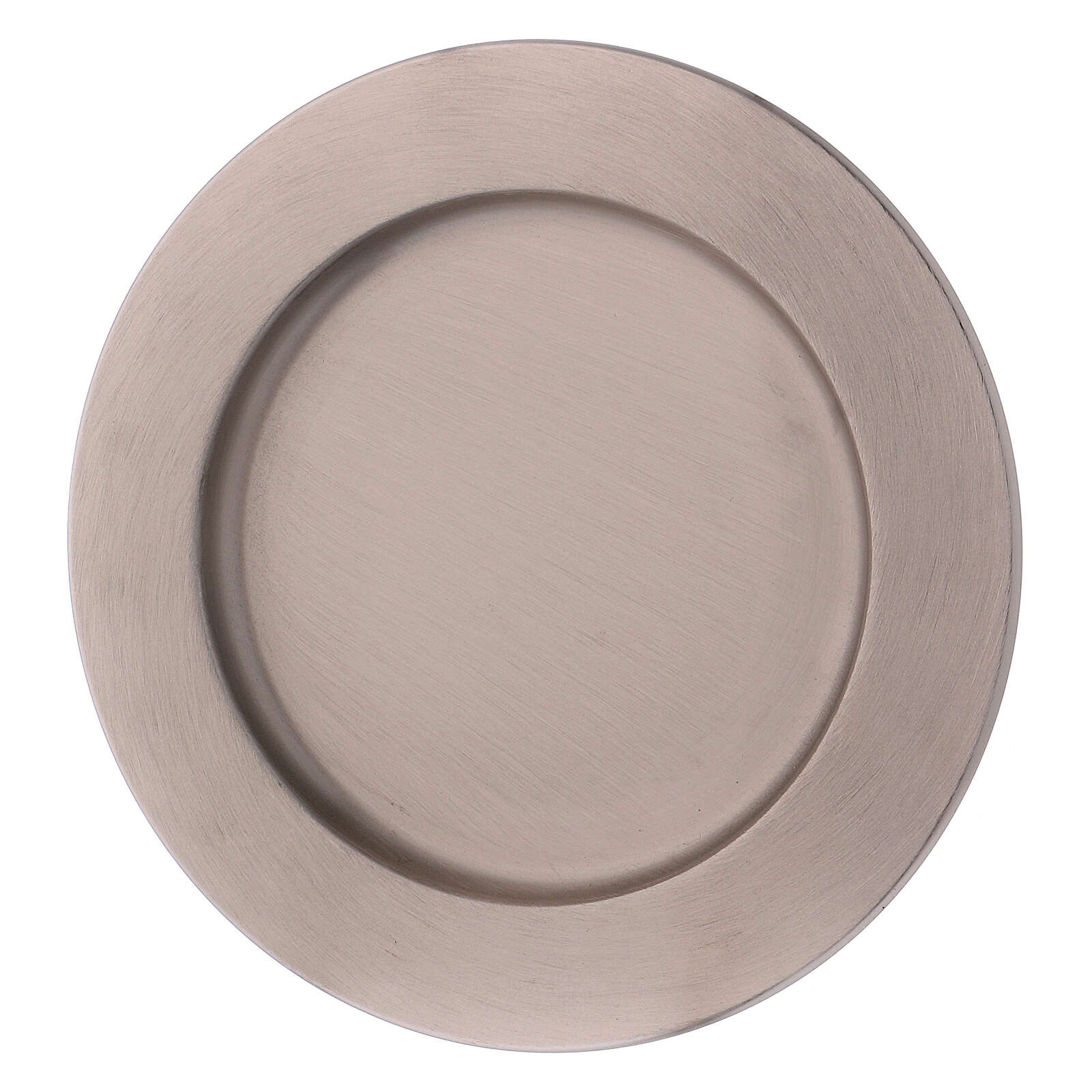 Candle holder plate in silver-plated brass diam. 6 3/4 in 3